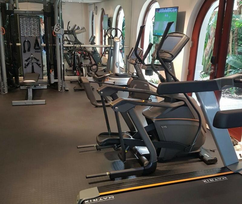 The Oyster Box Hotel Gym Installation